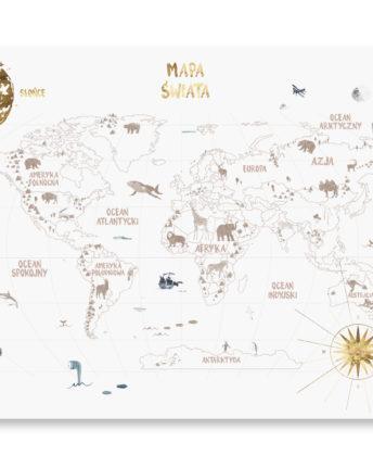 mural dziecięcy World map 3