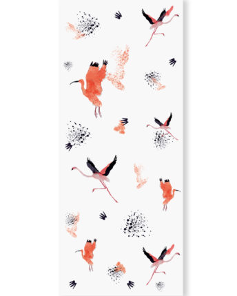tapeta dla dzieci Crimson Birds 2