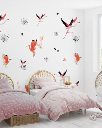 Tapeta dla dzieci Crimson birds