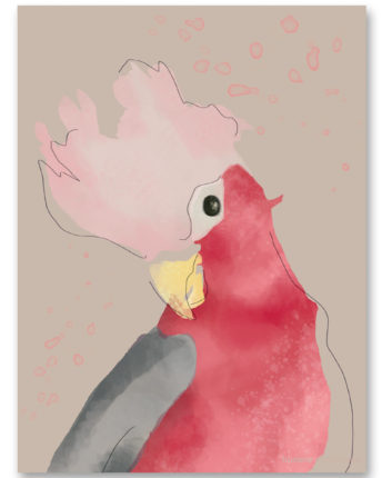 Plakat dziecięcy Pink Parrot