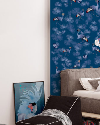 plakat dla dzieci blue parrot