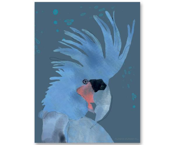 Plakat dziecięcy Blue Parrot