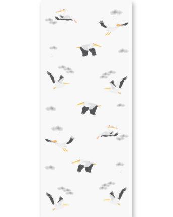 Tapeta dla dzieci Grey Pelican