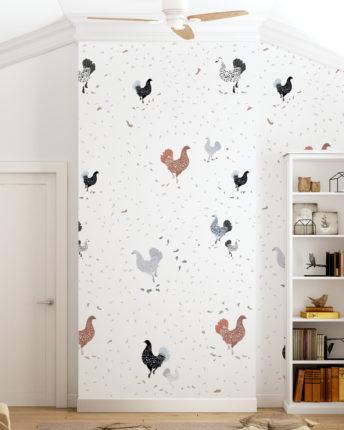 tapeta dla dzieci Chickens
