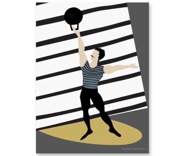 Plakat dziecięcy Athlete stripes